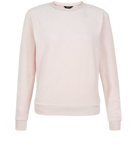 Teens Pink Velour Sweater | New Look