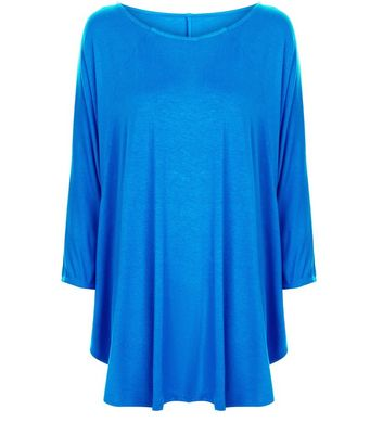 apricot-blue-batwing-top
