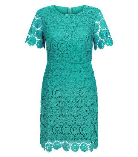Apricot Green Floral Lace Dress | New Look