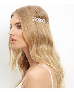 Rose Gold Embellished Leaf Headband | New Look