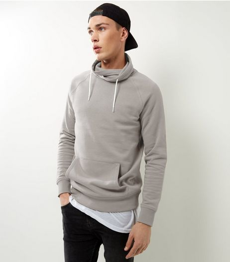 Pale Grey Funnel Neck Sweater | New Look