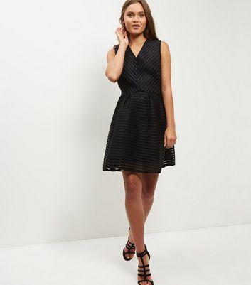 Mela Black Netted Skater Dress