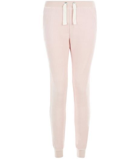 Teens Pink Velour Joggers | New Look