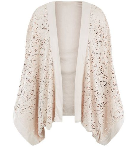 Apricot Stone Laser Cut Out Kimono | New Look