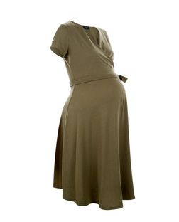 Maternity Khaki Wrap Dress | New Look