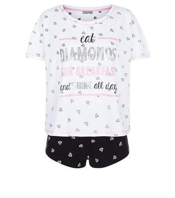 black-diamond-print-pyjama-set