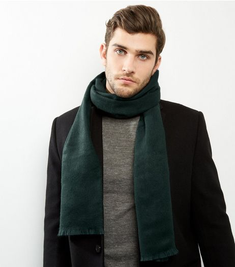 Dark Green Woven Scarf | New Look