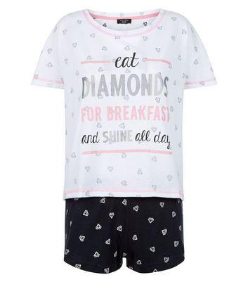 petite-black-diamand-print-pyjama-set