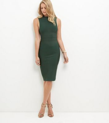 Dark Green Premium Bandage Bodycon Dress