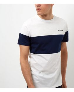 Blue New York Colour Block T-Shirt  | New Look