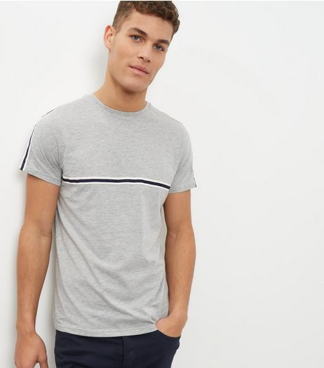 Grey Stripe T-shirt | New Look