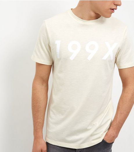 Yellow 199X Slub T-Shirt  | New Look