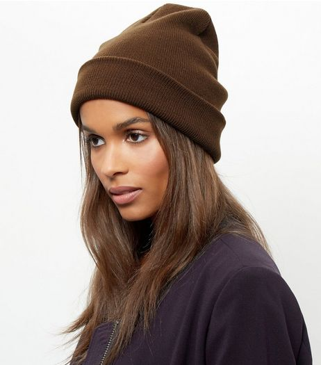 Khaki Beanie Hat | New Look