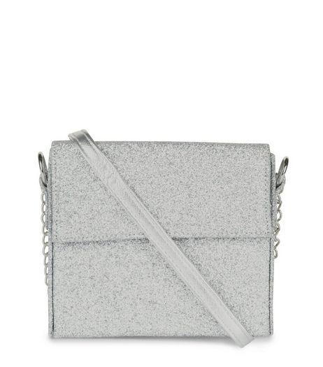 Silver Glitter Shoulder Bag | New Look