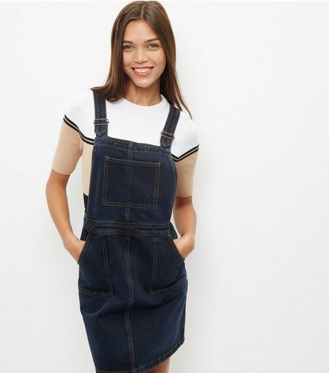 Anita and Green Blue Denim Pinafore Dress | New Look