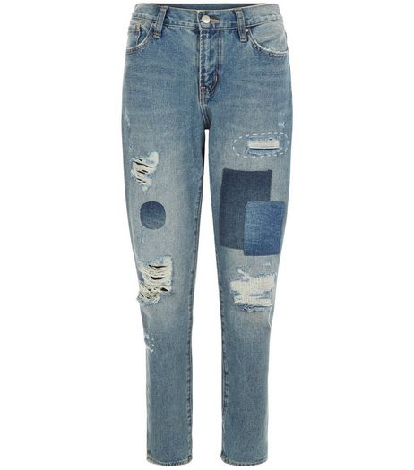Anita and Green Blue Patchwork Skinny Jeans | New Look
