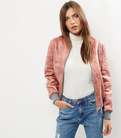Blue Vanilla Pink Bomber Jacket  | New Look