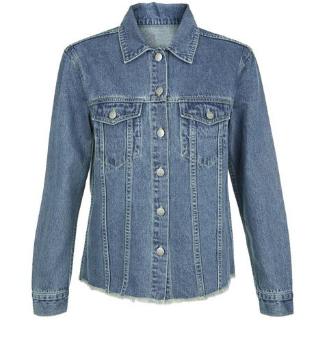 Anita and Green Blue Raw Hem Denim Jacket | New Look