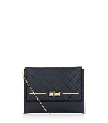 black-twist-lock-quilted-clutch