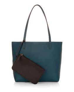 Green Reversible Shopper Bag  | New Look