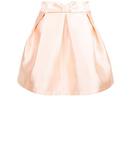 Cameo Rose Pink Satin Pleated Skirt | New Look