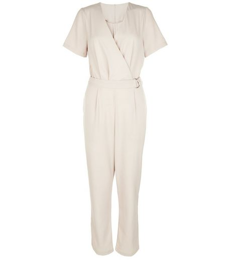 Cameo Rose Stone Wrap D-Ring Belted Jumpsuit | New Look
