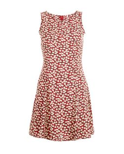 Blue Vanilla Red Floral Print Sleeveless Dress | New Look