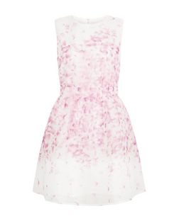 Blue Vanilla Pink Petal Print Sleeveless Dress | New Look