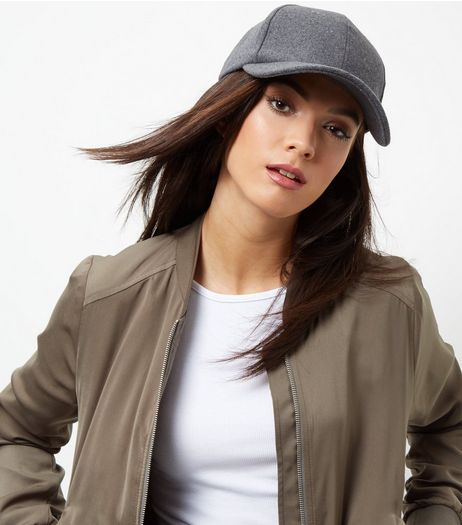 Grey Felt Cap | New Look