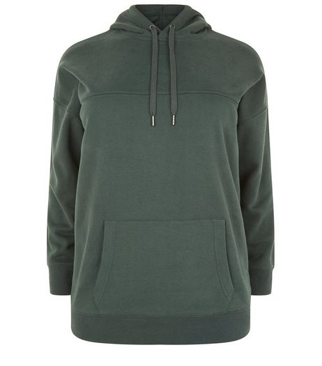 Curves Green Oversized Hoodie | New Look