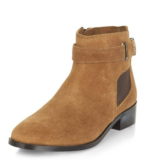 Tan Leather Buckle Chelsea Boots | New Look