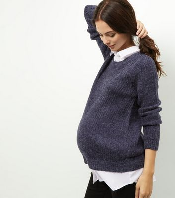 Product photo of Maternity navy 2 in 1 jumper