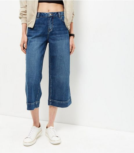 Blue Denim Culottes | New Look