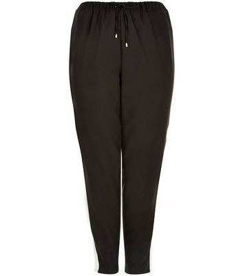 Curves Black Contrast Panel Joggers