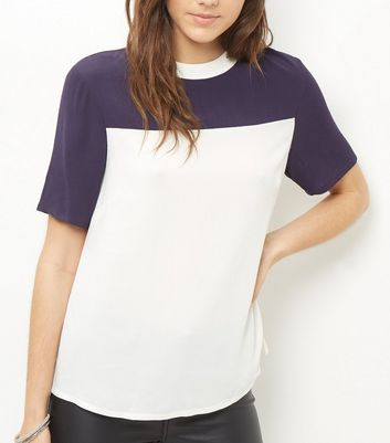 white-colour-block-swing-t-shirt