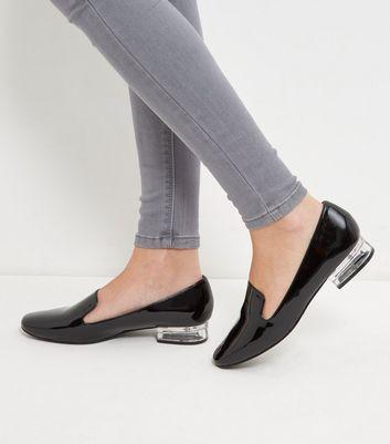 Mocassini  donna Black Perspex Heel Loafers