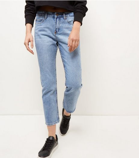 Blue Straight Leg Jeans  | New Look