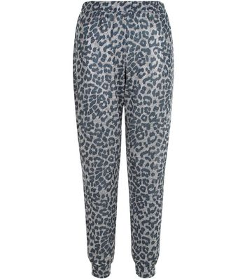 Petite Grey Animal Print Joggers