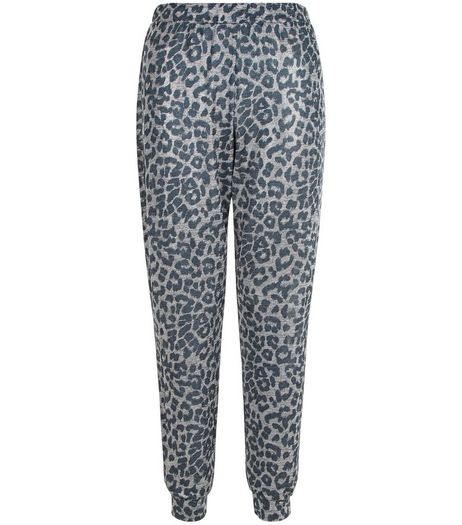 Petite Grey Animal Print Joggers | New Look