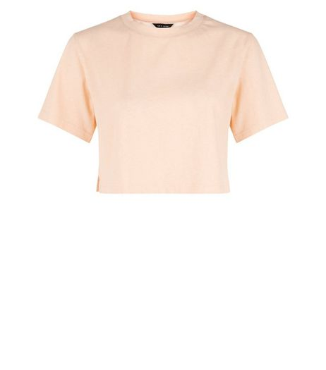 Pink Boxy Crop Top  | New Look