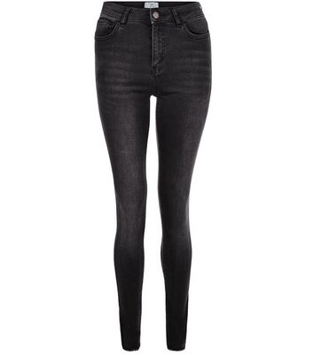 Tall Black Washed Skinny Jeans