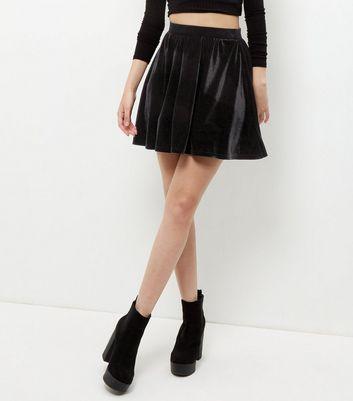 Gonna  donna Black Velvet Skater Skirt
