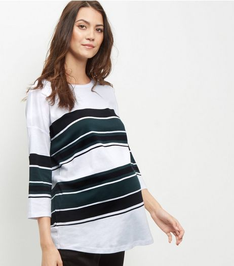 Maternity Dark Green Oversized Contrast Top | New Look