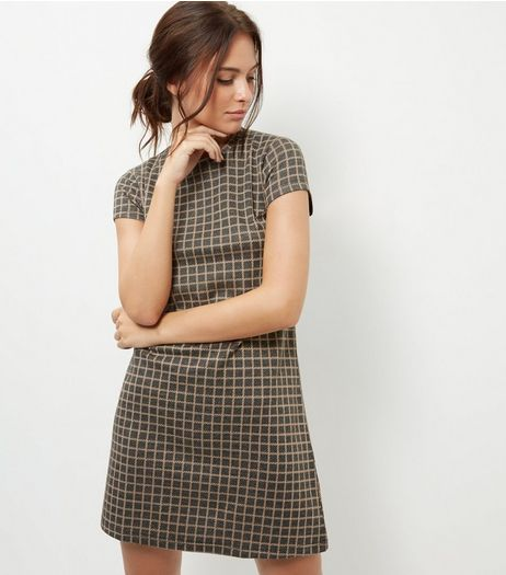 Blue Vanilla Grey Check Tunic Dress | New Look