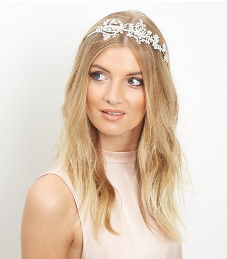 Crystal Oversized Floral Stone Hairband | New Look