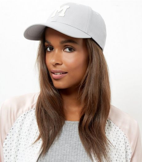 Grey M Badge Cap | New Look
