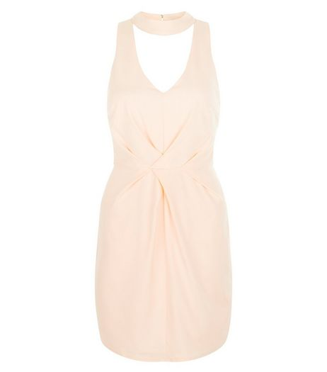 Parisian Shell Pink Cut Out Front Pleated Dress | New Look
