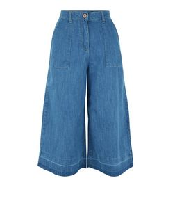 Parisian Blue Denim Culottes  | New Look