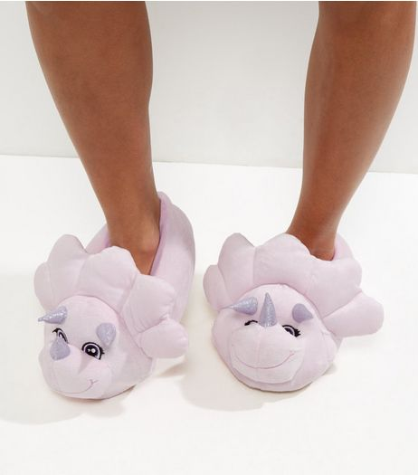 Pink Dinosaur Slippers | New Look