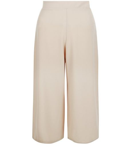 QED Stone Crepe Culottes | New Look